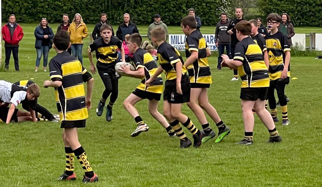 U12 in action against Upton RFC